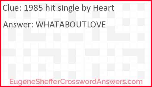 1985 hit single by Heart Answer