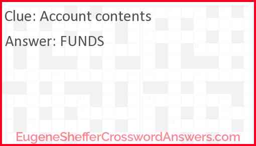 Account contents Answer