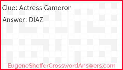 Actress Cameron Answer