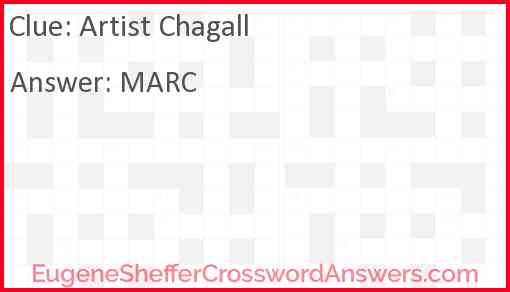 Artist Chagall Answer