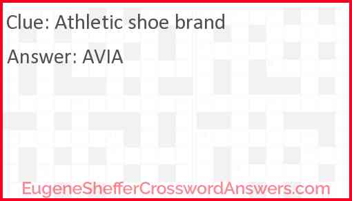 Athletic shoe brand Answer