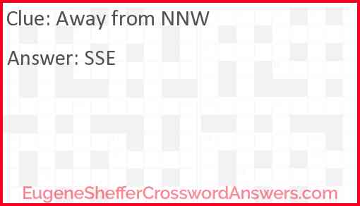 Away from NNW Answer