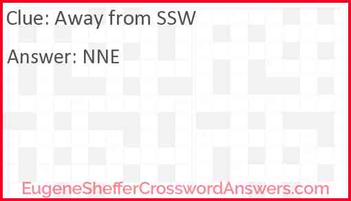 Away from SSW Answer