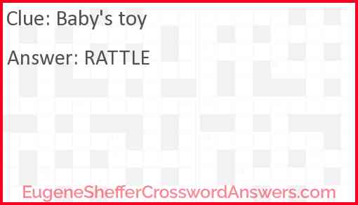 Baby's toy Answer