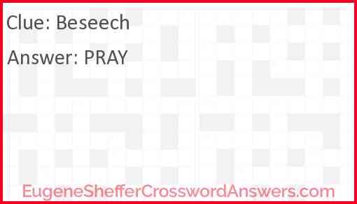 Beseech Answer
