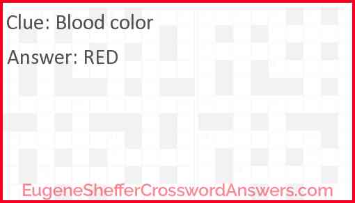 Blood color Answer