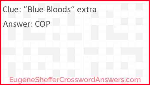 """Blue Bloods"" extra Answer"