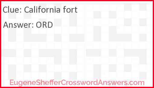 California fort Answer