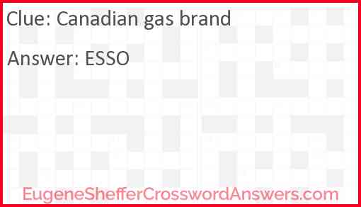 Canadian gas brand Answer