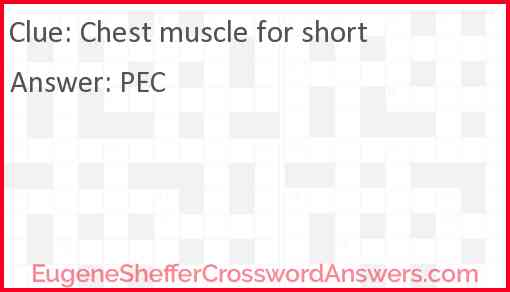 Chest muscle for short Answer