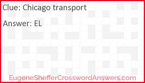 Chicago transport Answer