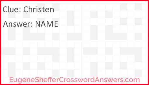 Christen Answer