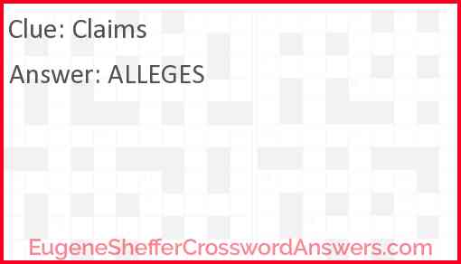 Claims Answer