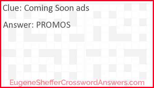 Coming Soon ads Answer