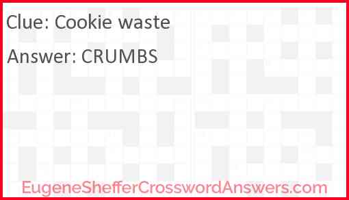 Cookie waste Answer