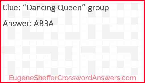 """""""Dancing Queen"""" group Answer"""
