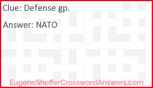 Defense gp. Answer