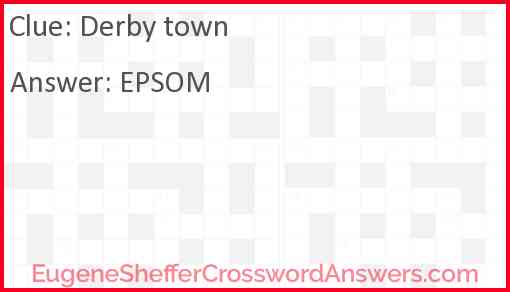 Derby town Answer
