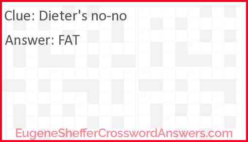Dieter's no-no Answer