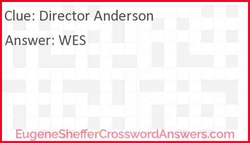 Director Anderson Answer