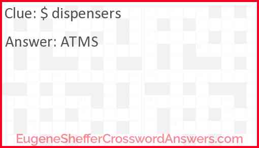 $ dispensers Answer