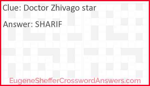 Doctor Zhivago star Answer