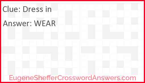 Dress in Answer