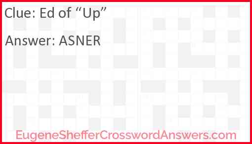 """Ed of """"Up"""" Answer"""