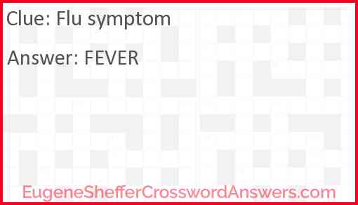 Flu symptom Answer