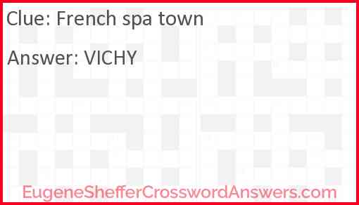 French spa town Answer