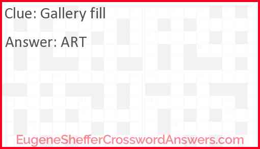 Gallery fill Answer