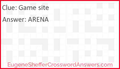 Game site Answer
