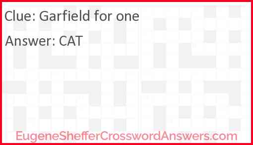 Garfield for one Answer