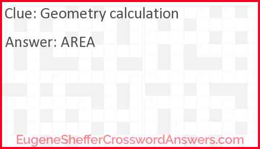 Geometry calculation Answer