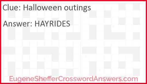 Halloween outings Answer