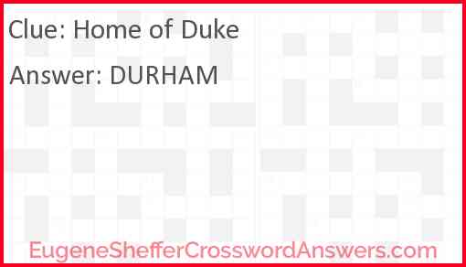 Home of Duke Answer