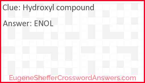 Hydroxyl compound Answer
