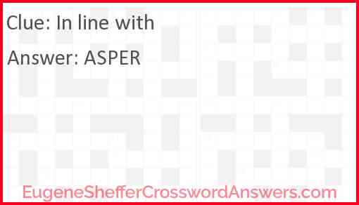 In line with Answer