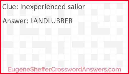 Inexperienced sailor Answer