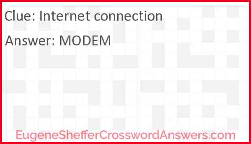 Internet connection Answer