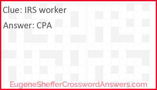 IRS worker Answer