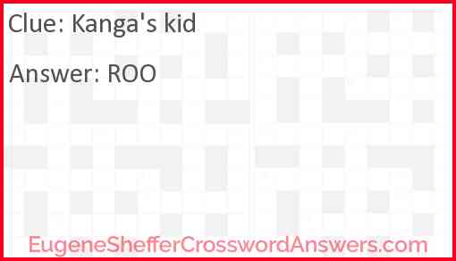 Kanga's kid Answer