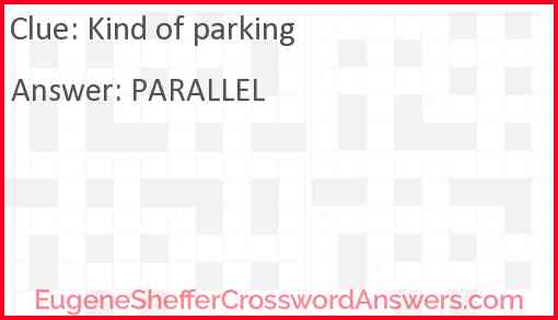 Kind of parking Answer
