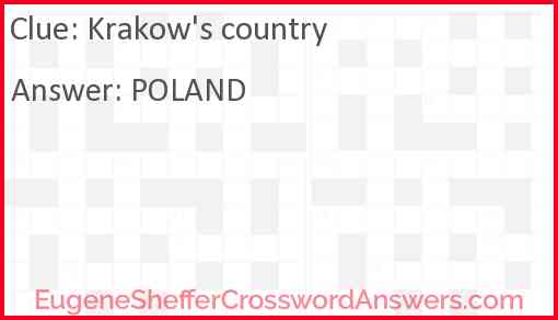 Krakow's country Answer
