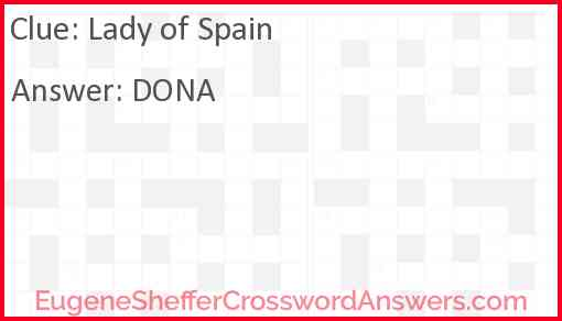 Lady of Spain Answer
