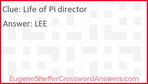 """Life of Pi"" director Answer"