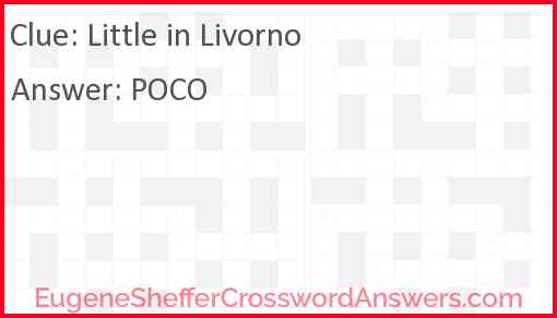 image about Eugene Sheffer Crossword Printable named Minimal in just Livorno crossword clue