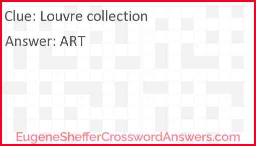 Louvre collection Answer