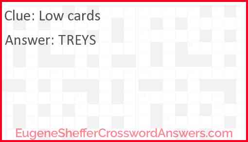 Low cards Answer