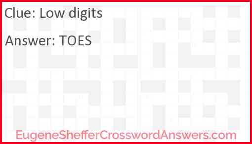 Low digits Answer